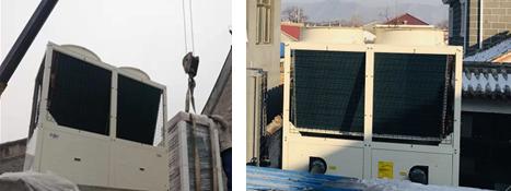 菲捷尔风冷模块机室外机安装